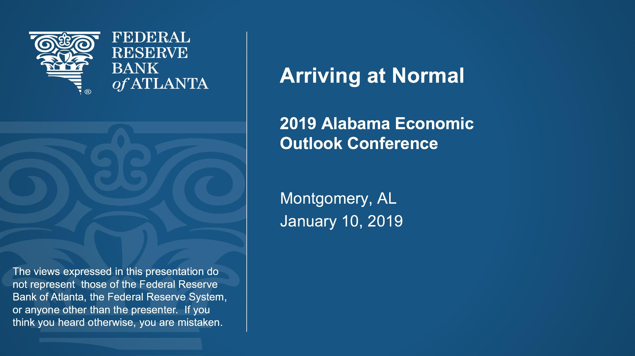 Arriving at Normal Presentation 2019
