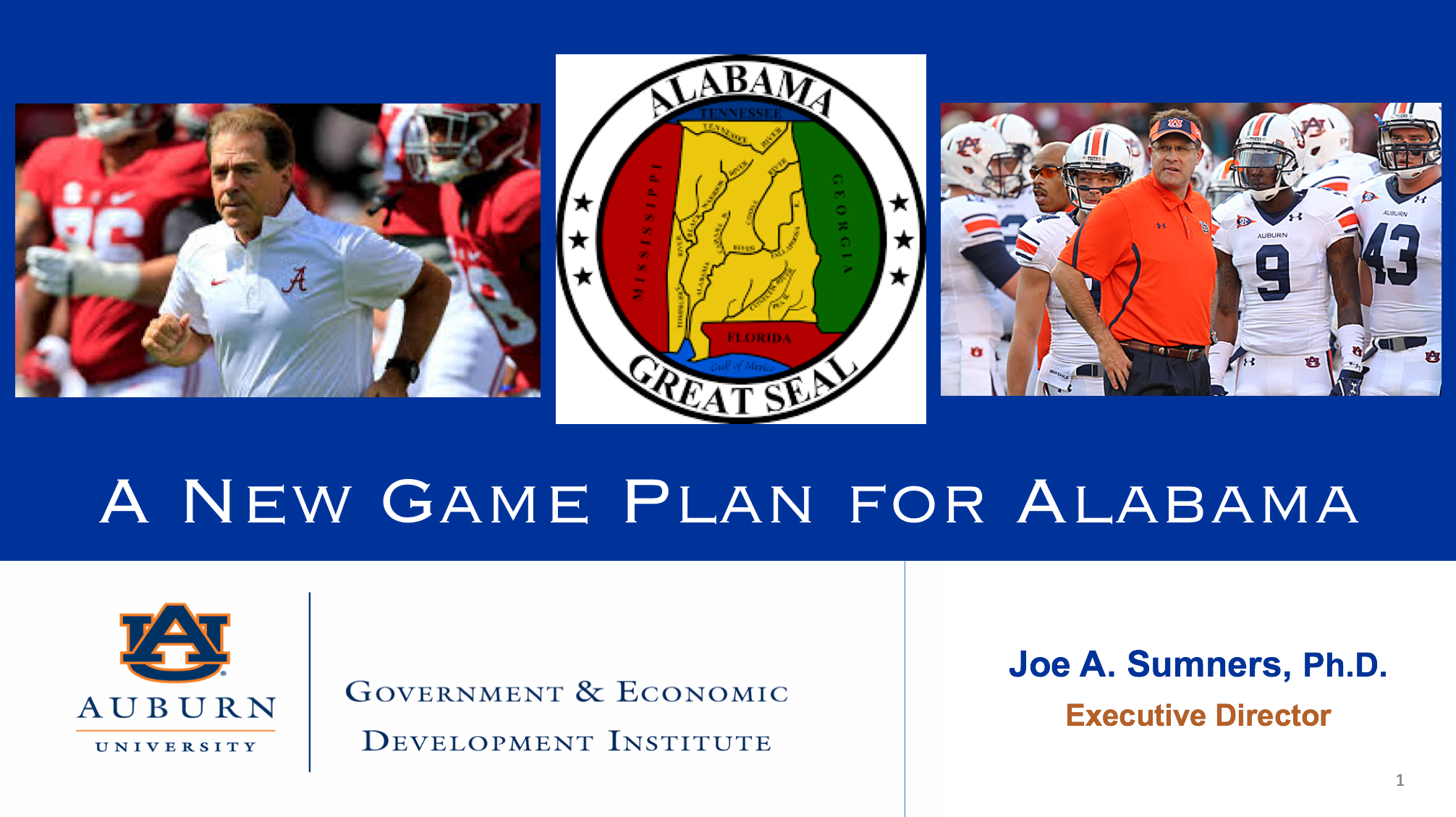 A New Game Plan for Alabama Presentation