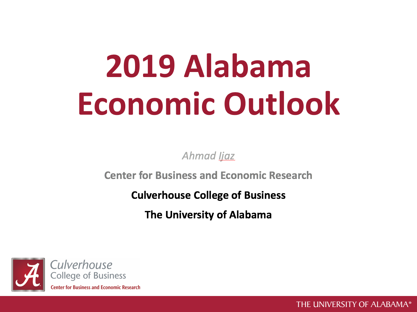 2019 Alabama Economic Outlook Presentation