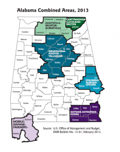 Alabama Combined Areas