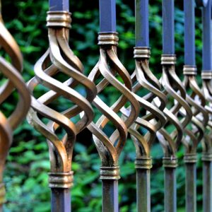 Iron and steel fence