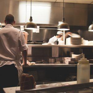 kitchen worker in restaurant
