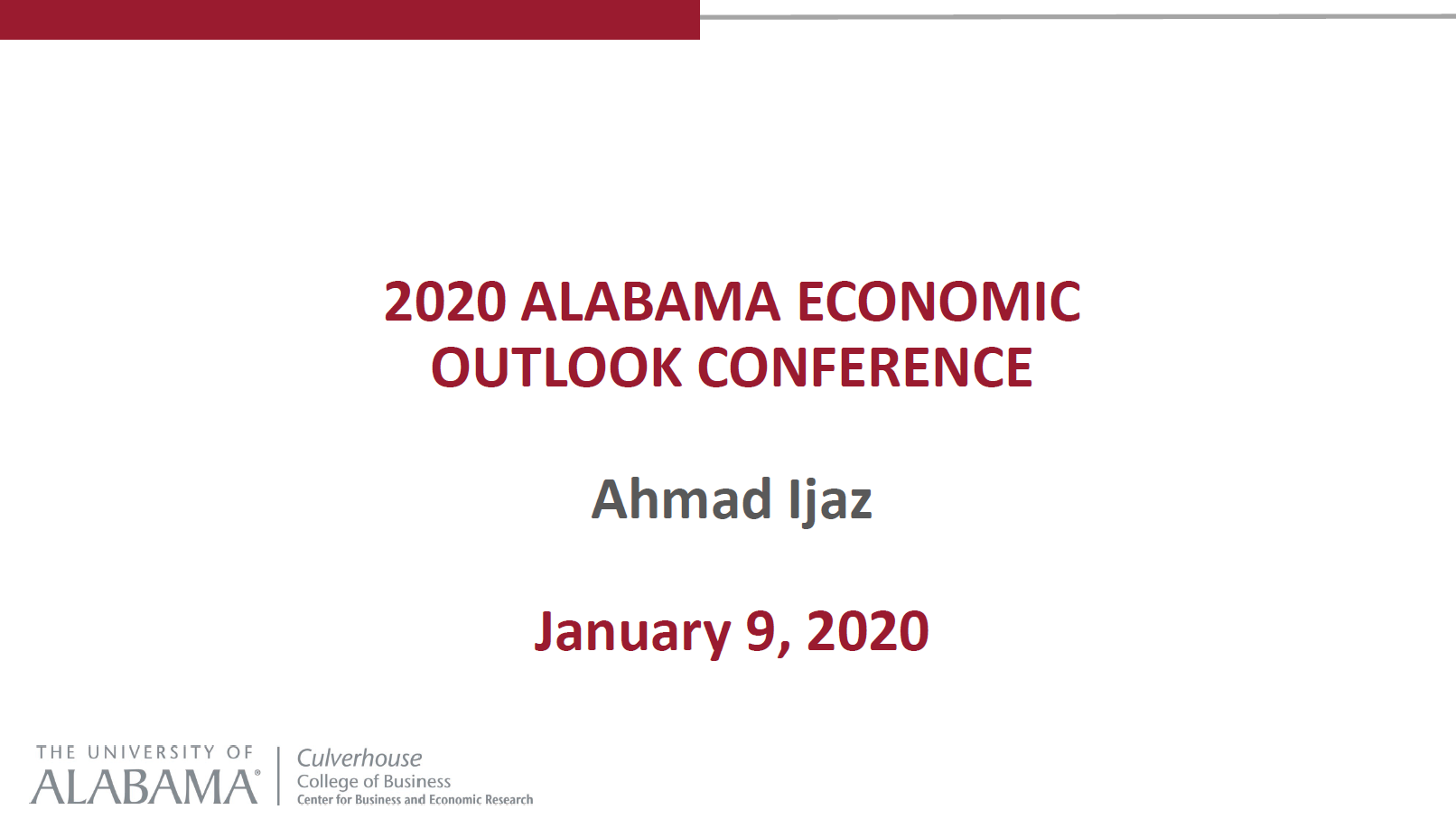 2020 Alabama Economic Outlook Presentation