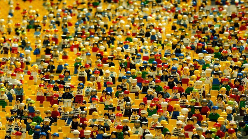 Crowd of Legos